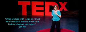 tedx talk jen aly creative process business doing a ted talk